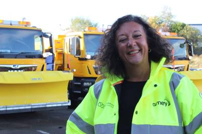 Helen Fisher with the Staffs Gritters.jpg